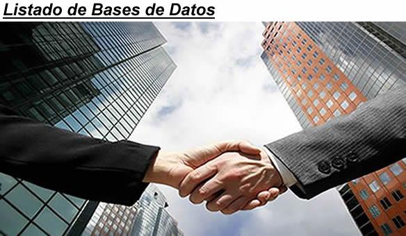 LISTADO DE BASES DE DATOS